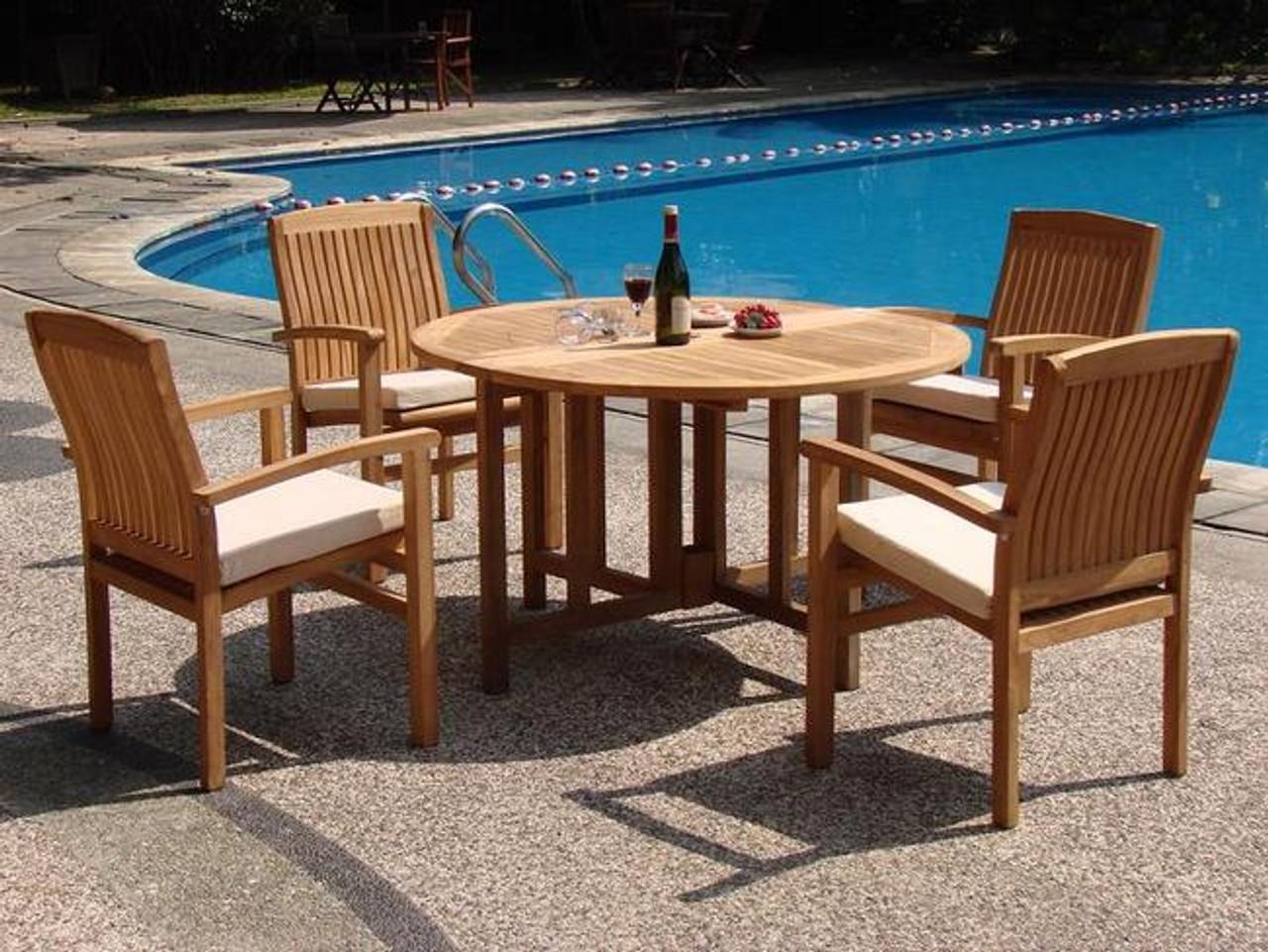 cello teak patio set