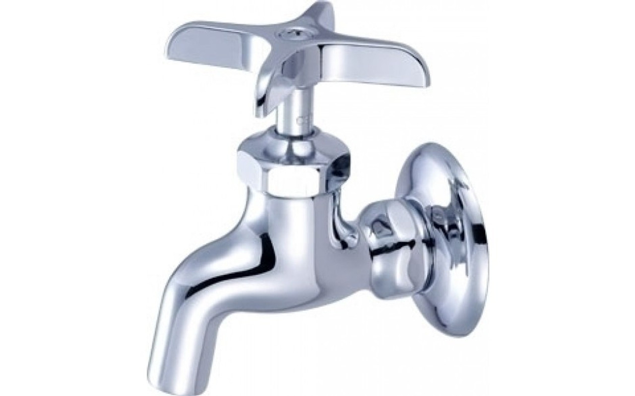 Central Brass 0047 Ua3 2 Handle Wall Mount Kitchen Faucet Chrome Touch On Kitchen Sink Faucets