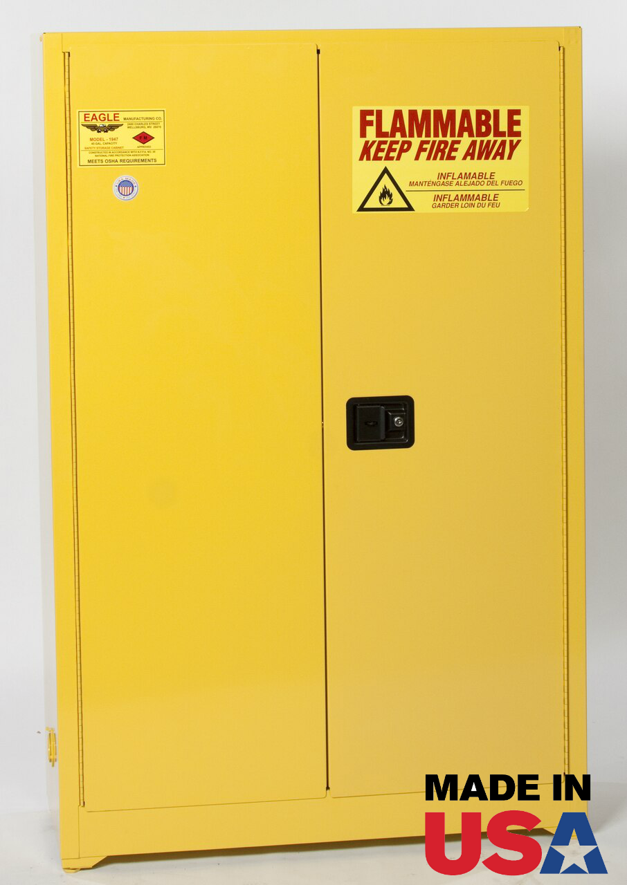 Eagle 1945 Flammable Safety Cabinet Self Closing Sliding Door