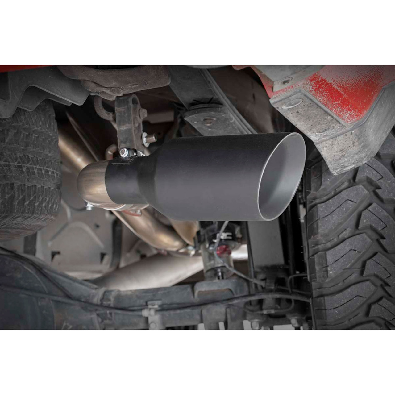 2014 2018 chevy gmc 1500 5 3l dual cat back exhaust system with black tips