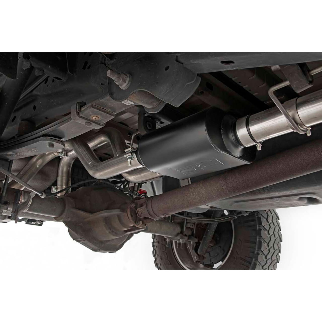 2009 2014 ford f 150 v8 dual cat back exhaust system with black tips