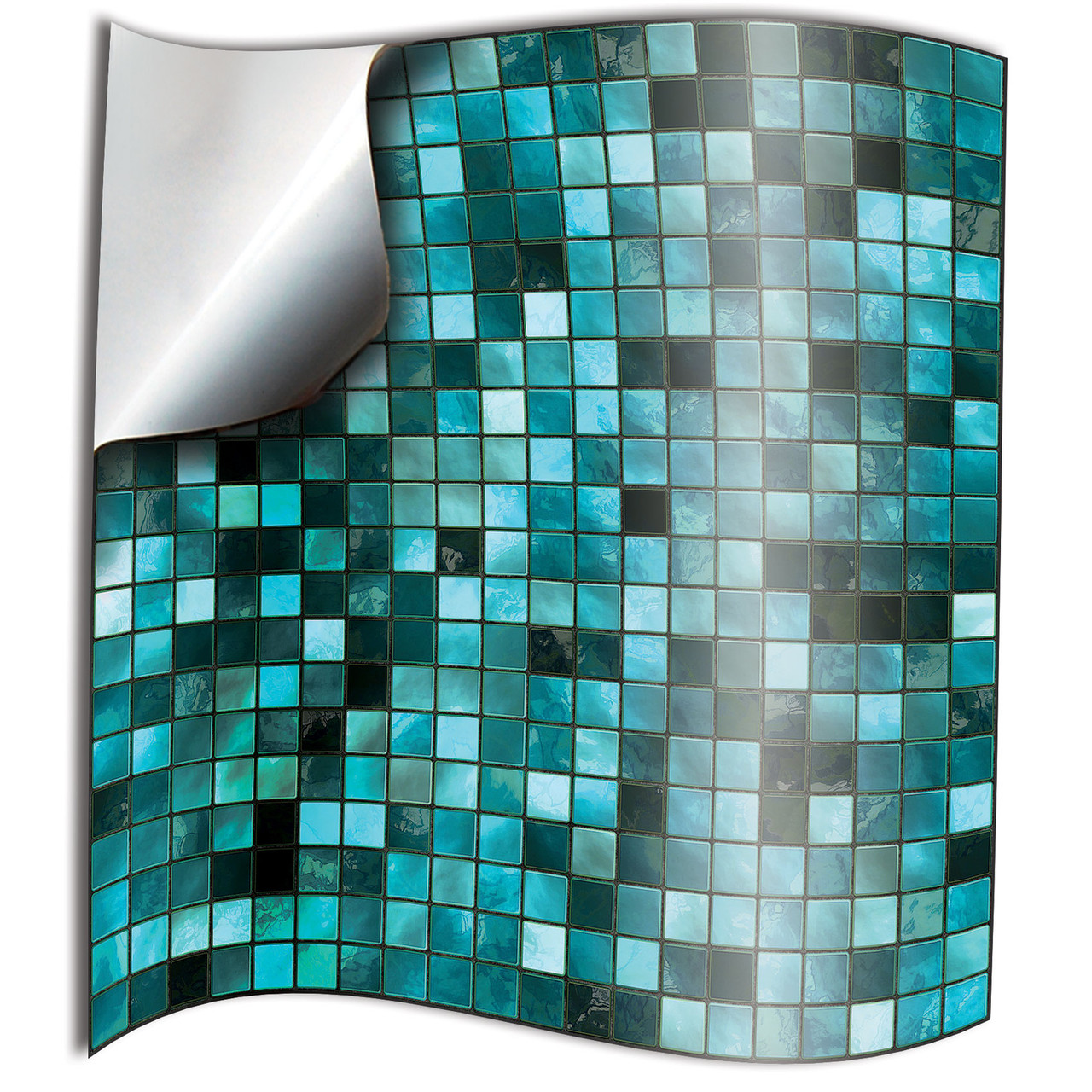 24 turquoise mosaic kitchen tile stickers 6 by 6 inches or 4x4 bathroom tile transfers decals 15x15cm 10x10cm