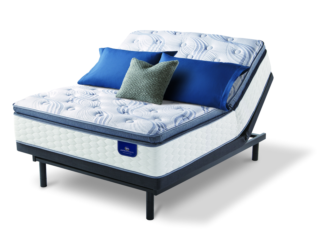 serta perfect sleeper willamette super pillow top mattress with motion essentials iii adjustable bed base