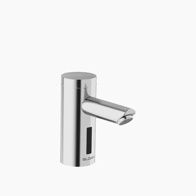sloan eaf 250 bat cp 0 5gpm mlm ir iq fct optima faucet battery powered sensor activated electronic 0 5 multi laminar i q click feature