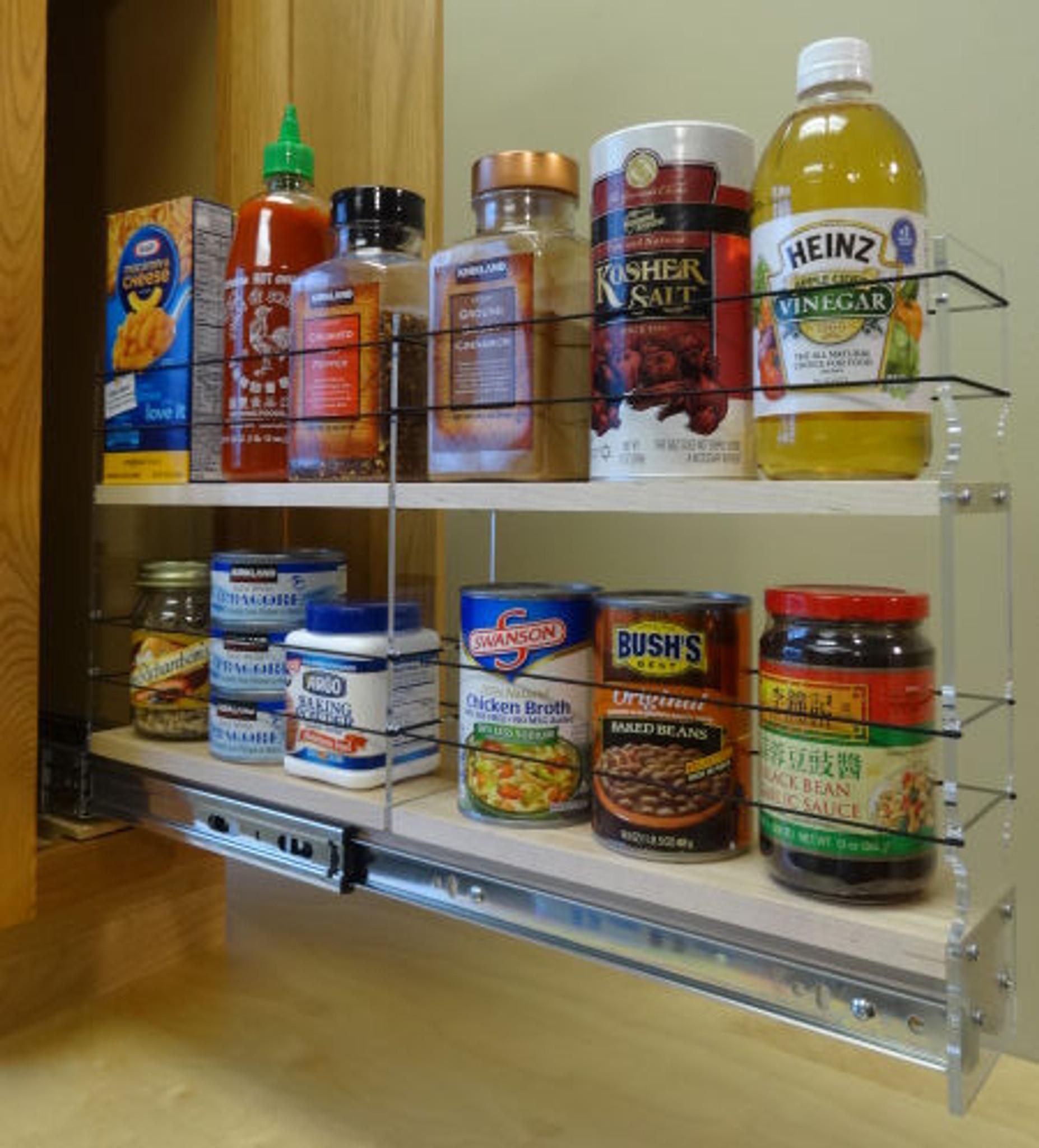 3x2x22 maple spice rack drawer