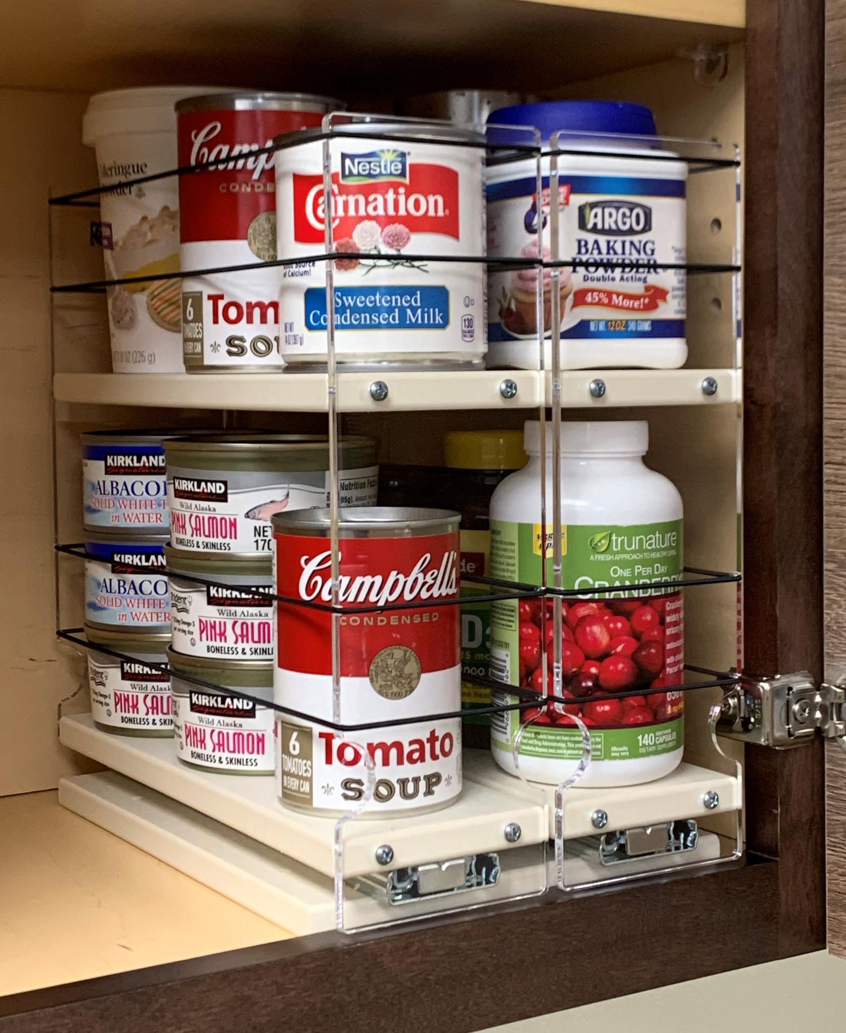 33x2x11 spice rack drawer cream