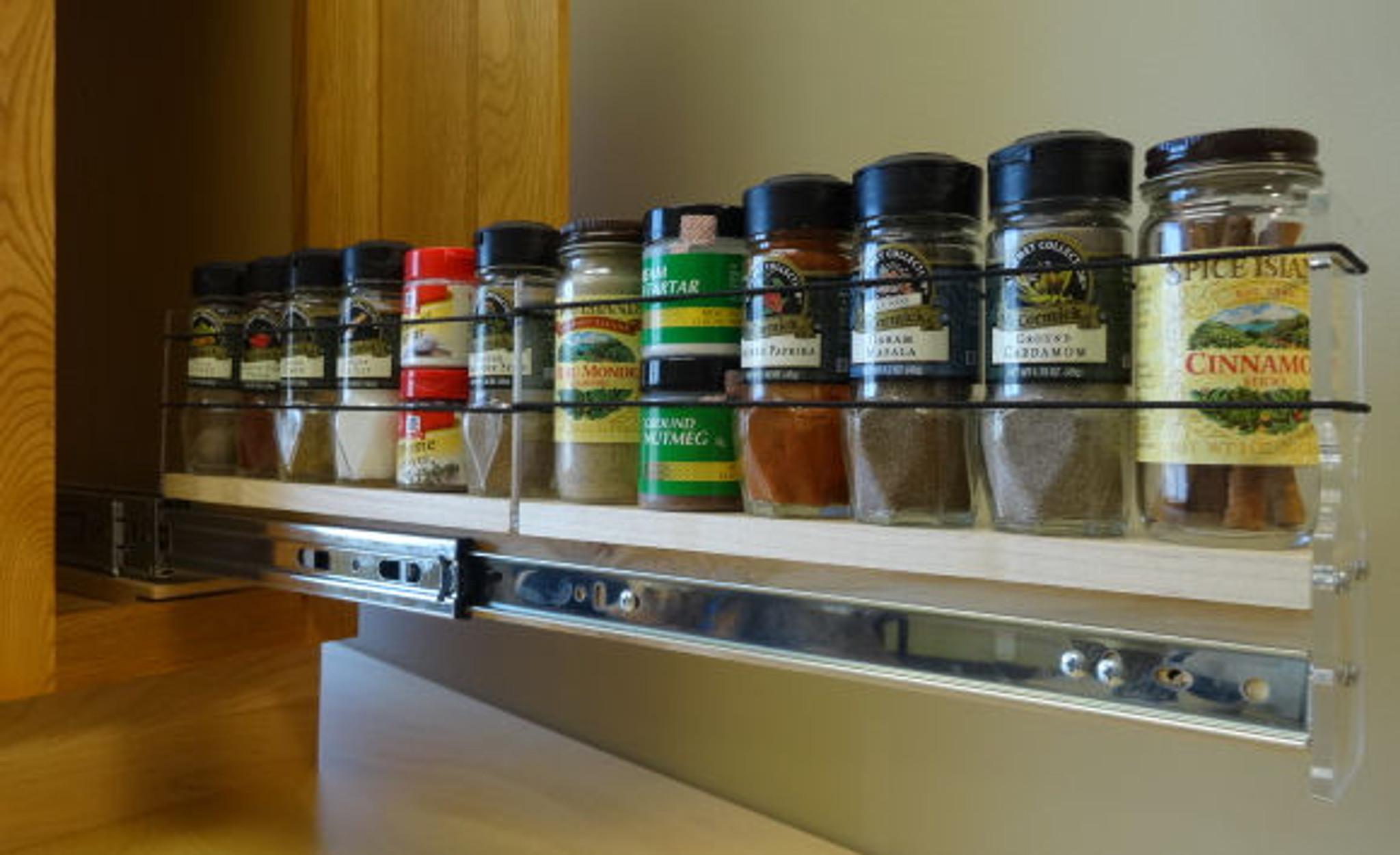 2x1x22 spice rack drawer cream
