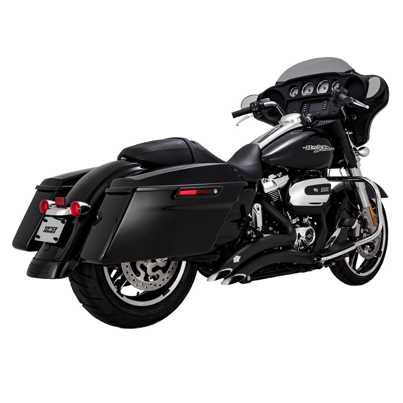 vance hines big radius 2 2 motorcycle exhaust for 2017 2020 harley davidson touring motorcycles