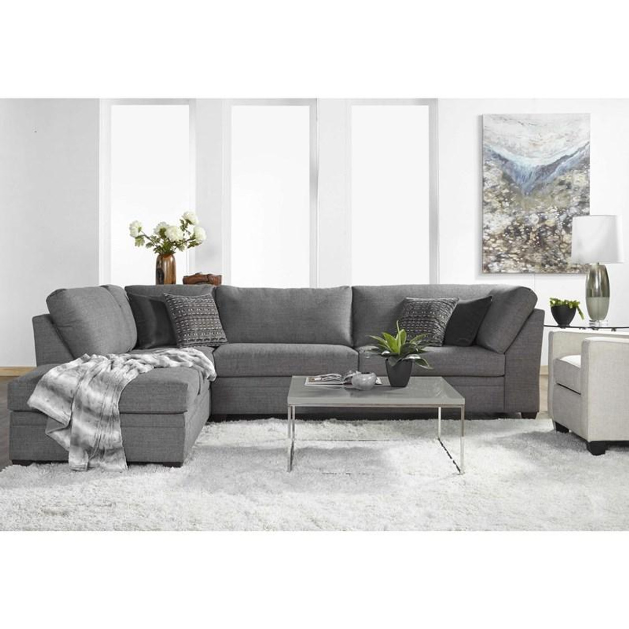 indy cement raf sofa laf corner chaise sectional
