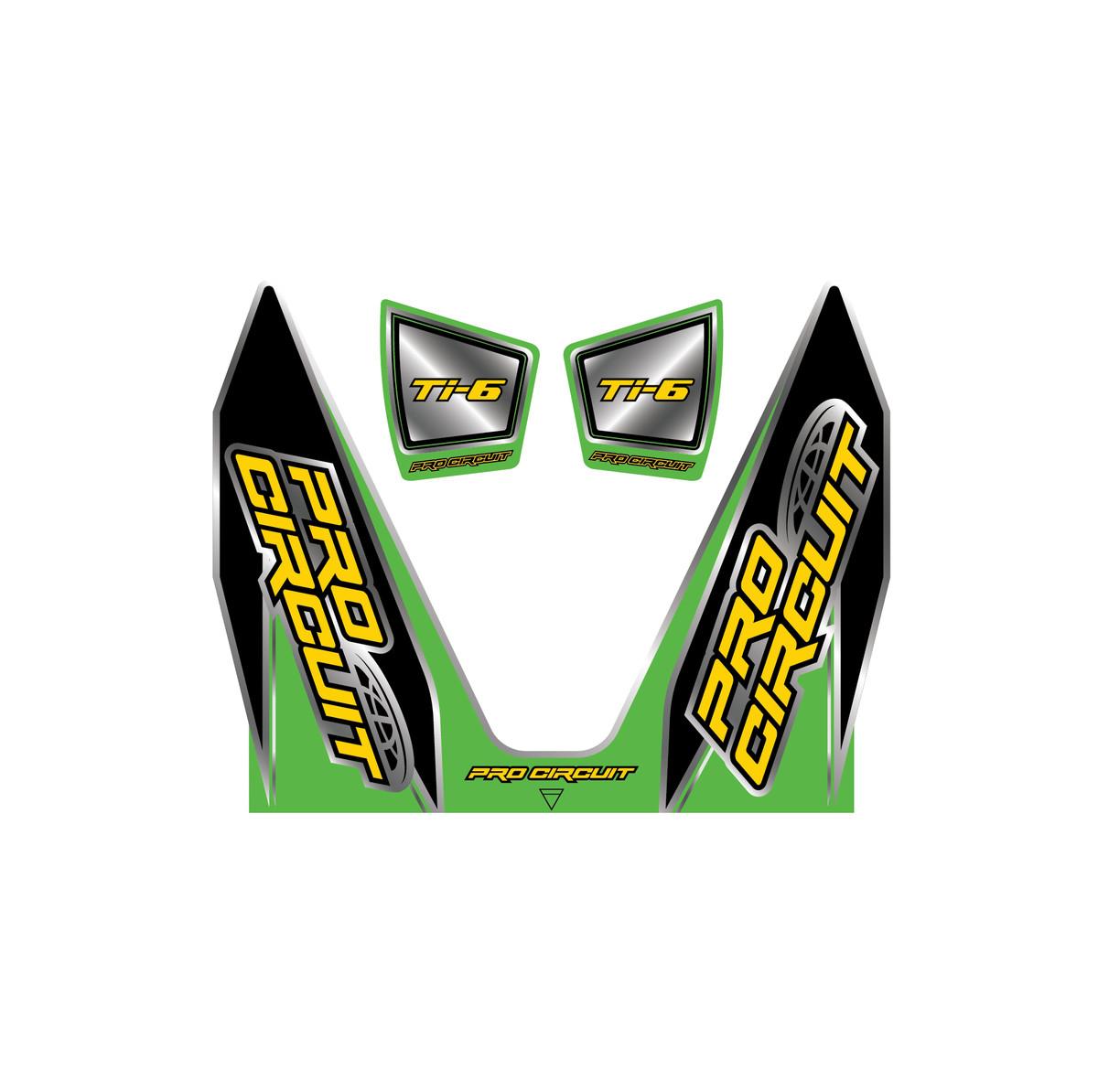 pro circuit ti 6 exhaust graphics kx green style 1