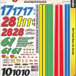 Ultracal 1 24 Dirt Track Race Car Decals Mg 3443 Pch Parts Express