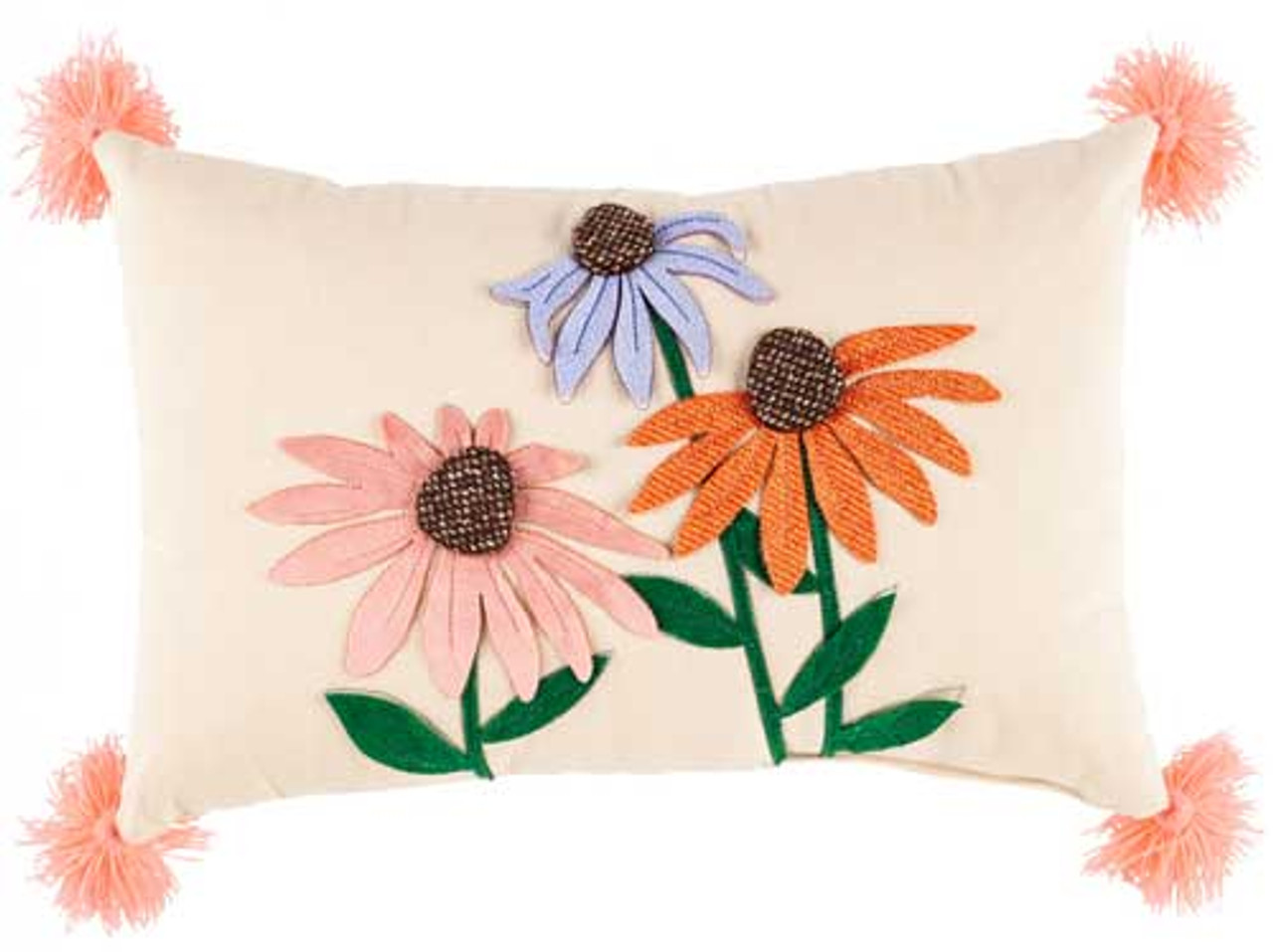 wildflower lumbar throw pillow 16 x 10 evergreen
