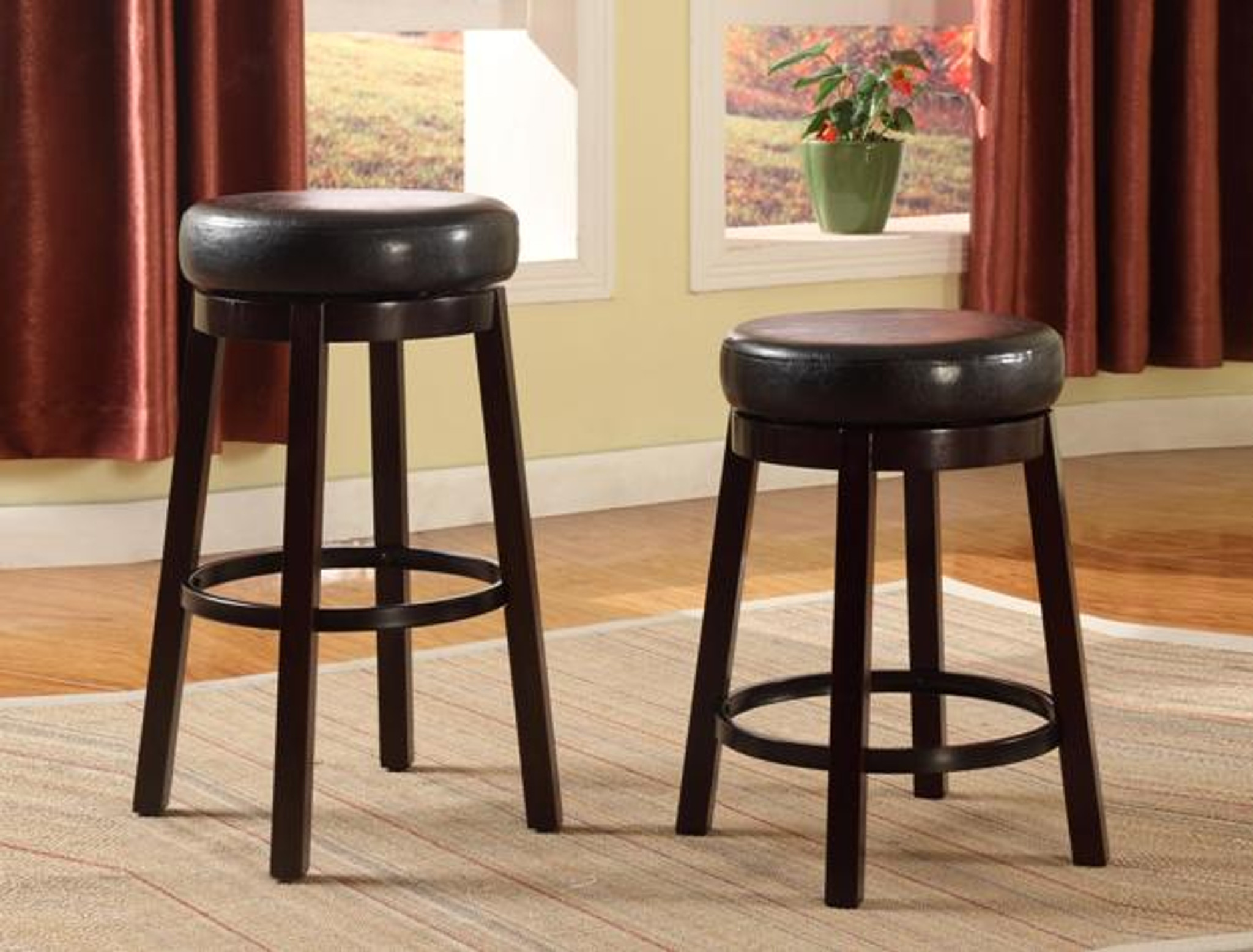 Wendy Pub Or Bar Stool In Espresso Set Of 2 Km Home Furniture