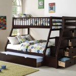 Twin Over Full Staircase Bunk Bed With Trundle Km Home Furniture