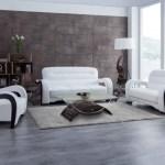 Kassa Mall Home Furniture U992 White Sofa Loveseat Set In White Leather