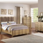 F9382 Queen King Bed Light Wood By Poundex
