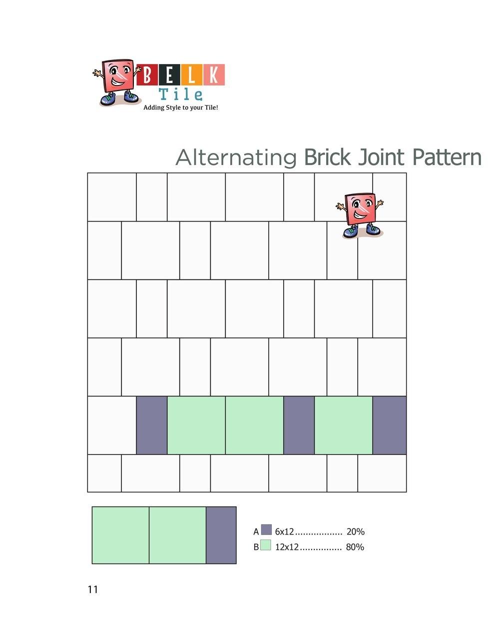 alternating brick joint floor tile