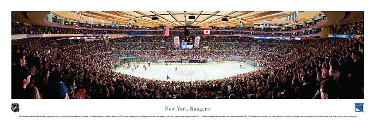 new york rangers at madison square garden panoramic poster