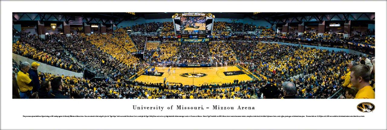 missouri tigers basketball at mizzou arena panoramic poster