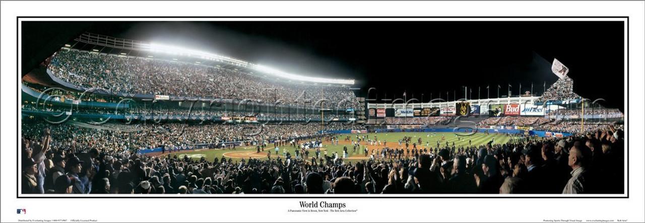 new york yankees world champs yankee stadium panoramic poster