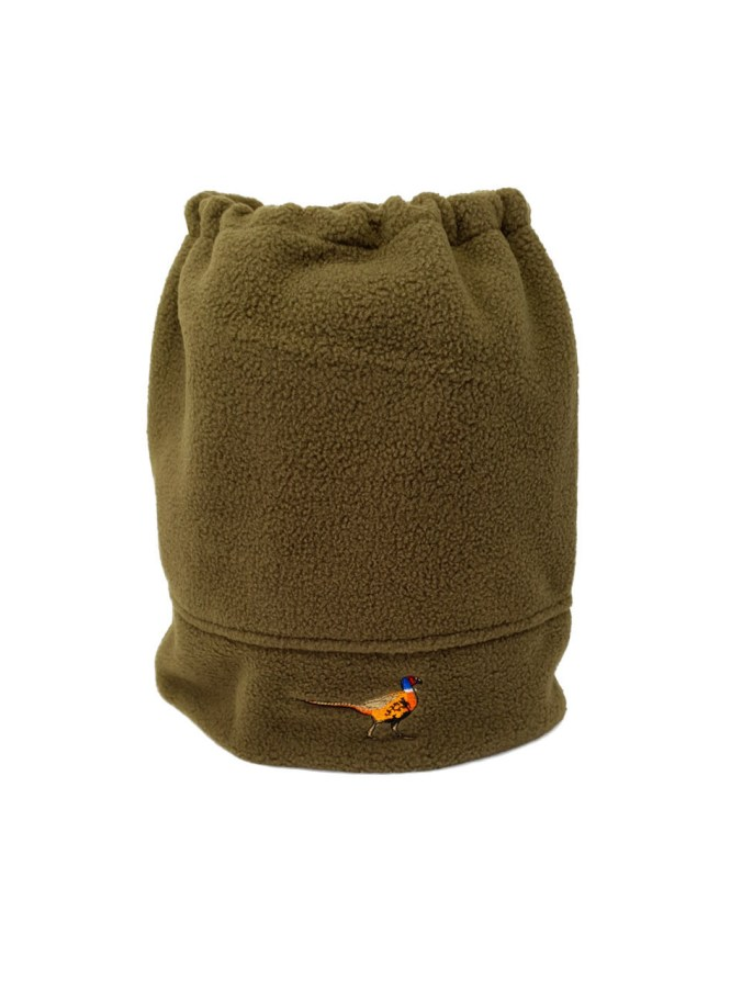 Pheasant Fleece Neck Warmer for cold spring mornings on the farm