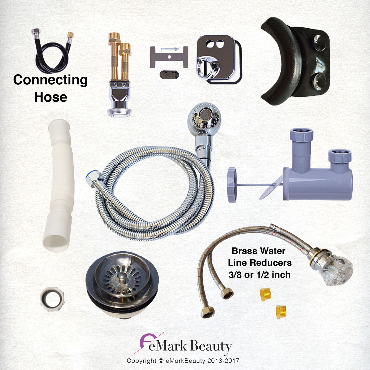 http www emarkbeauty com upgraded plumbing parts kit for use with shampoo bowls with gel neck rest tlc 116ks 77dh