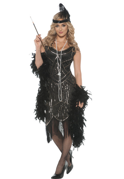 Women's Gatsby Girl Flapper Costume - Halloween Express