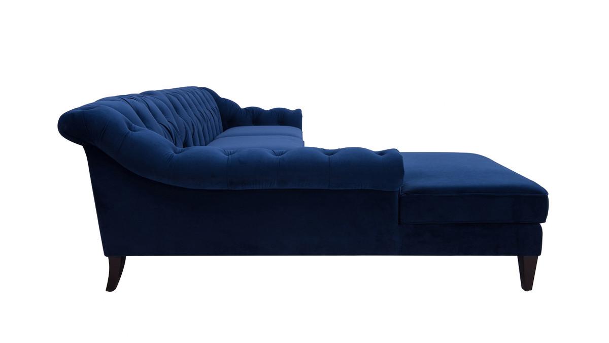 alexandra 132 tufted sectional sofa