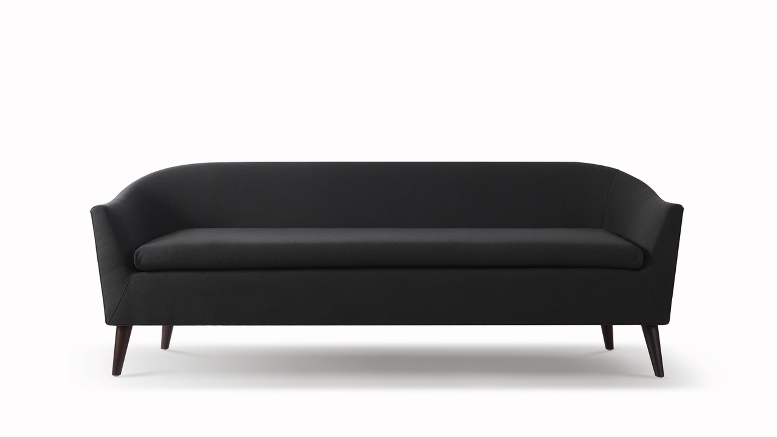 Lia Mid Century Modern Sofa Jet Black Jennifer Taylor Home