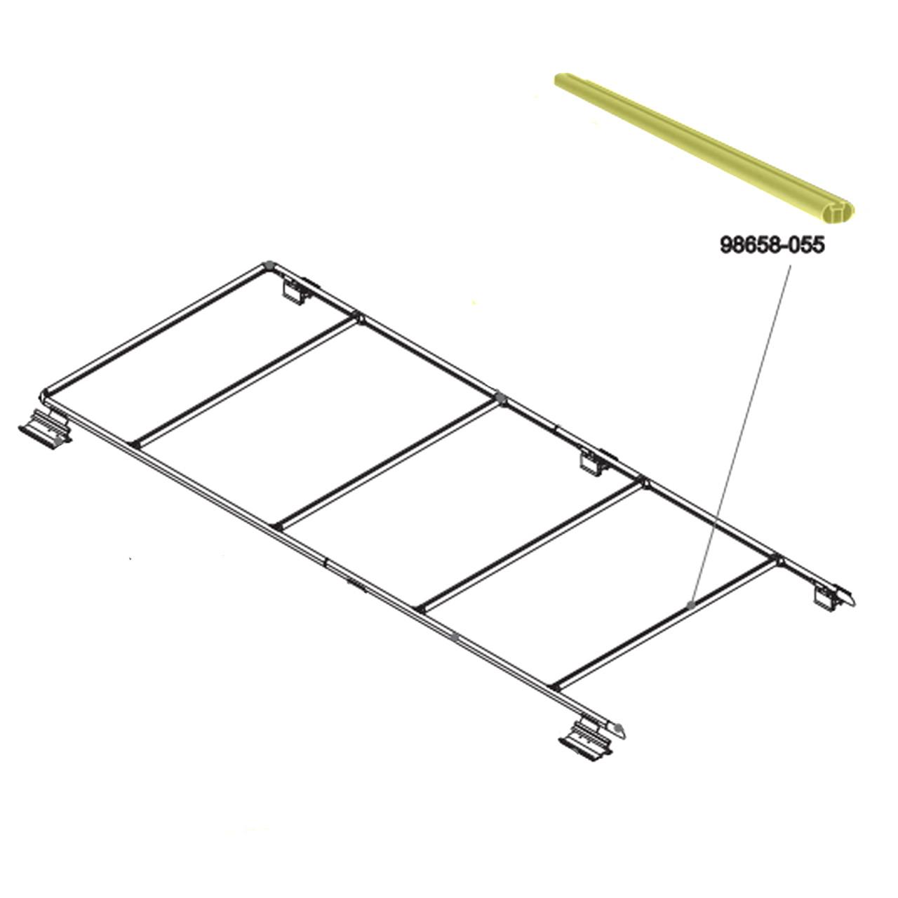 fiamma 98658 055 oem dodge promaster roof rack crossmember rail