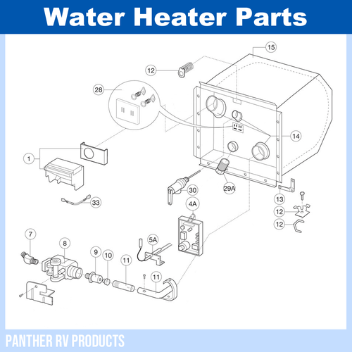 dometic™ atwood g6a8e rv water heater parts breakdown