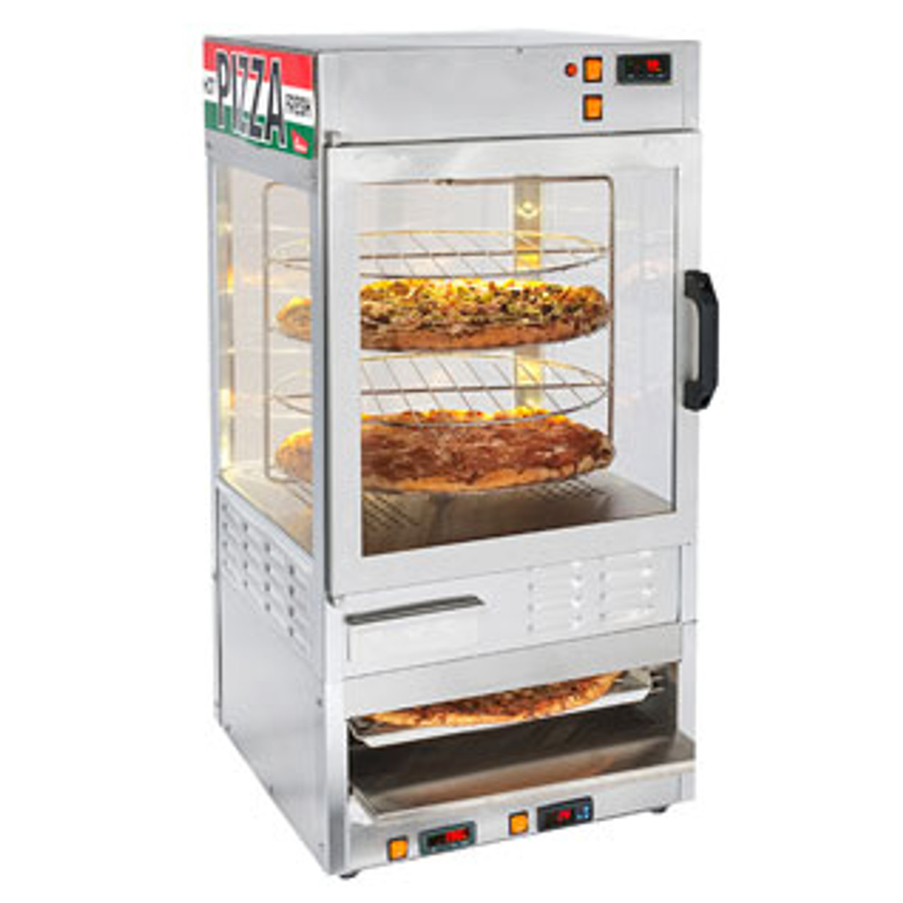pizza oven and warming display cabinet