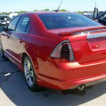 2010 2012 Ford Fusion Factory Style Led Tail Lights Jet Black Housing Clear Lens Spec D Tuning