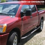 2004 2021 Nissan Titan Crew Cab Chrome Stainless Steel Side Step Nerf Bars Spec D Tuning