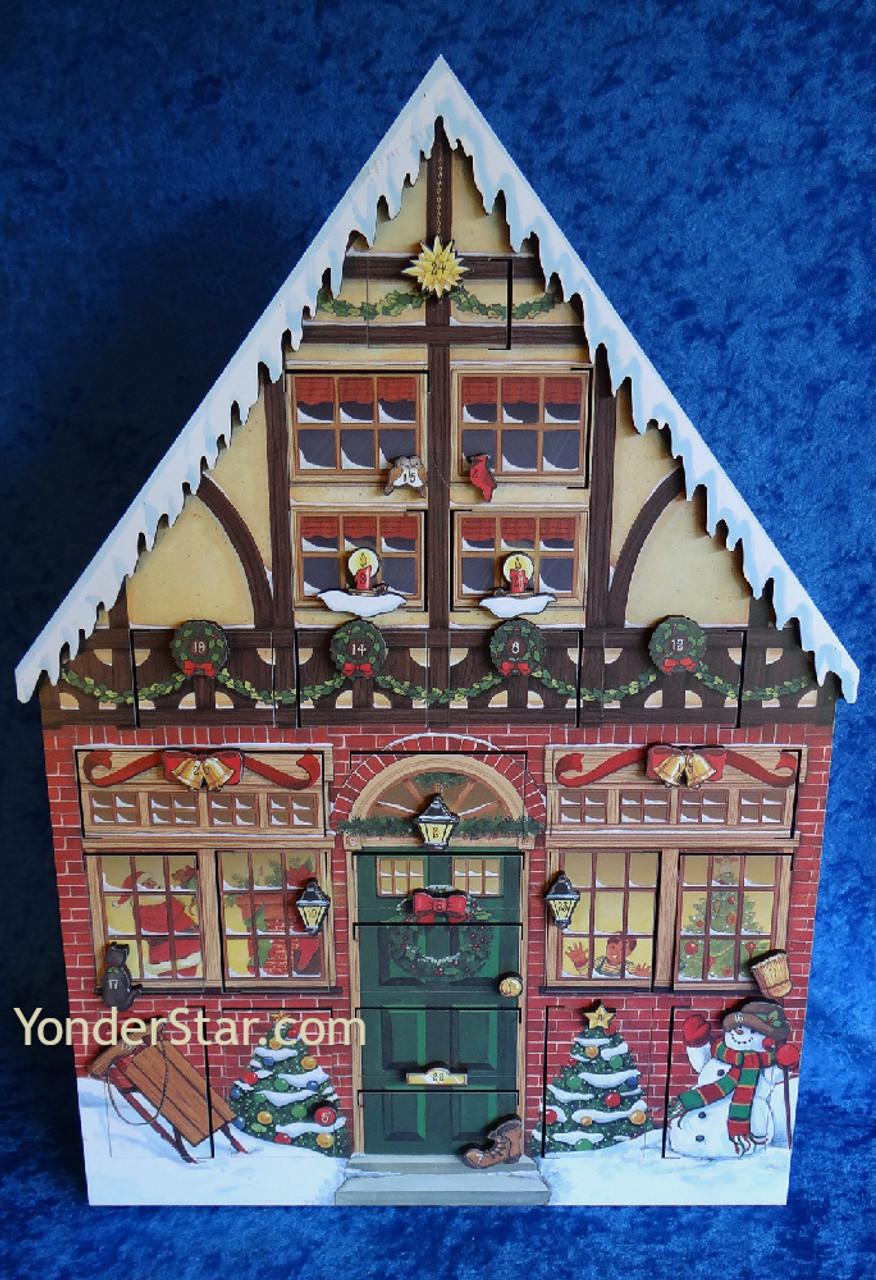 Wooden House Advent Calendar The Christmas Calendar