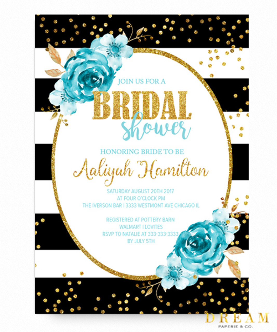 Asks your gets to wear black elegant outfits with. Tiffany S Bridal Shower Invitation