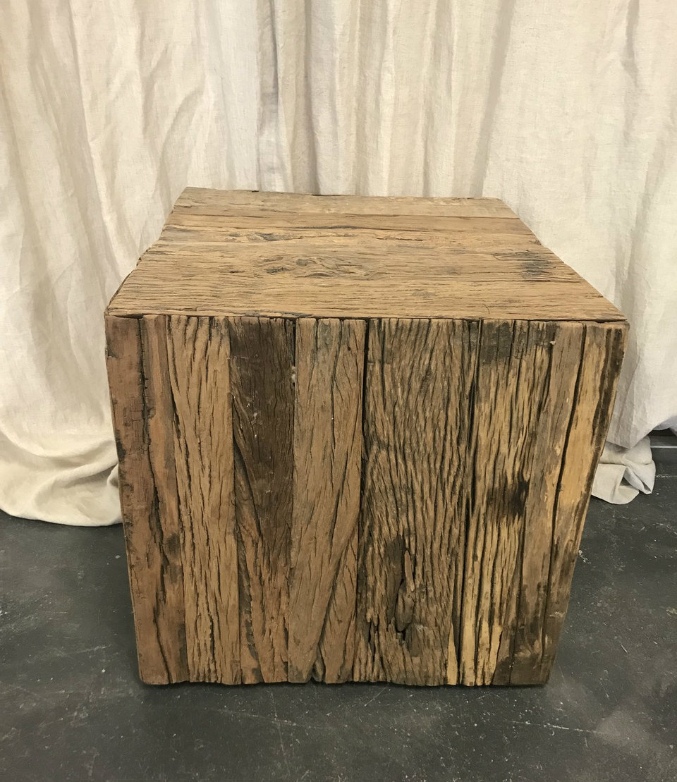 rustic table with wheels
