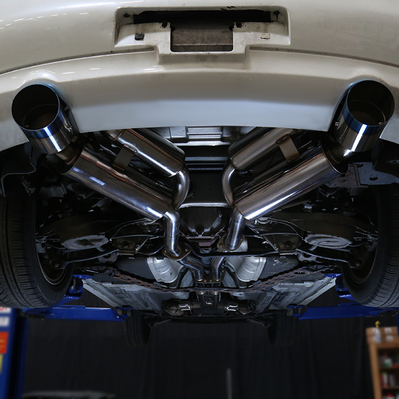 2003 2007 infiniti g35 coupe stainless steel dual catback exhaust system burnt tip