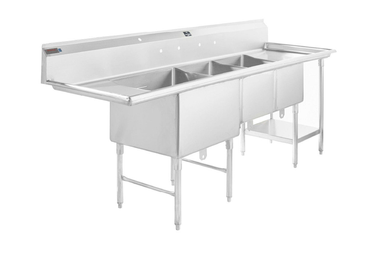 commercial 3 compartment sink