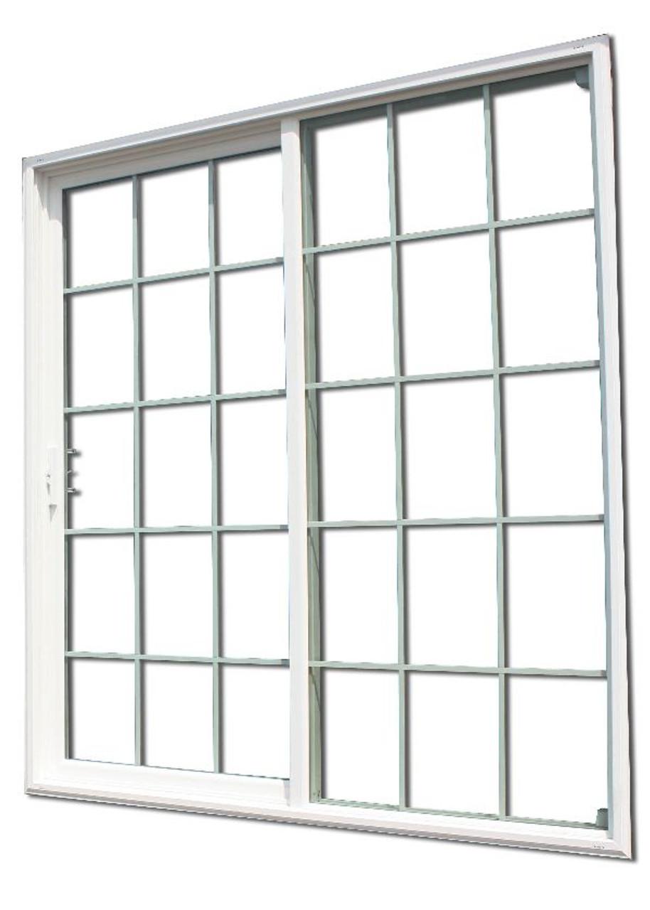 sliding glass patio door with 15 15 grids