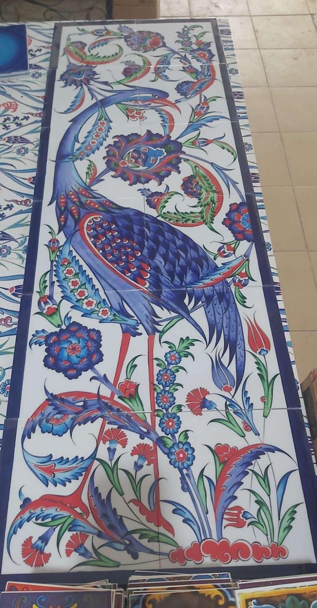 40x120cm forgotten glory ceramic tile wall mural