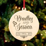 Personalized Christmas Ornament Stacked Names Cabanyco