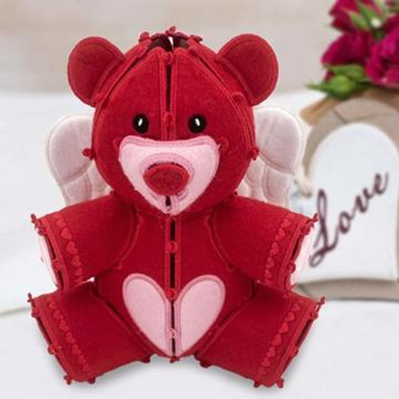 Freestanding Valentine Teddy Bear