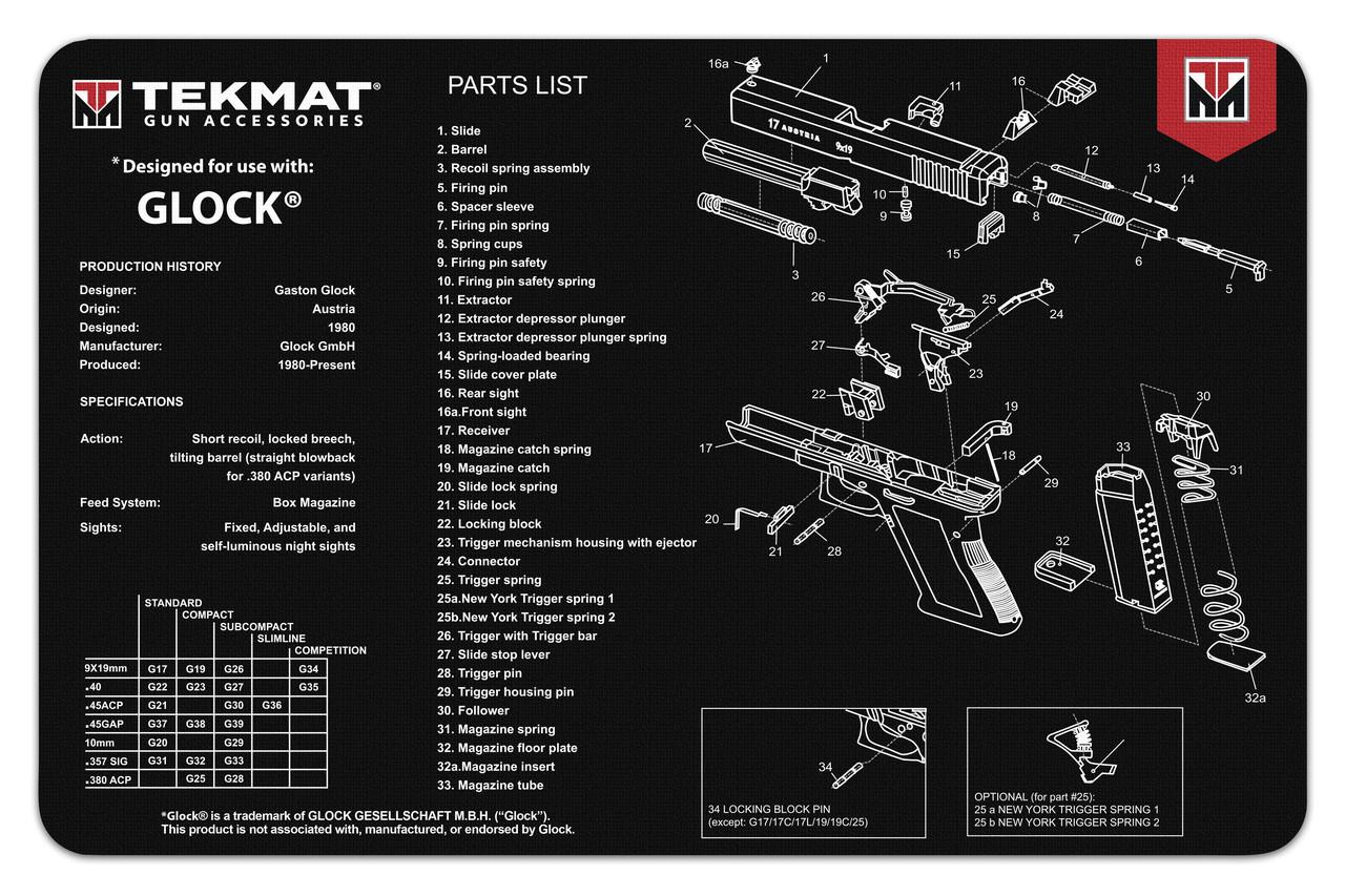 Glock Gun Cleaning Mat