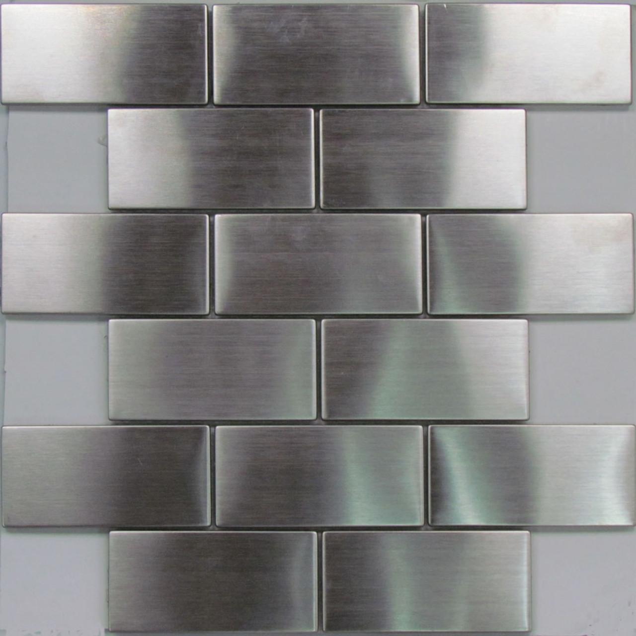801 stainless steel subway mosaic tiles