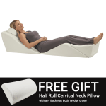 Foam Bed Wedge Elevates Your Body In A Zero Gravity Position