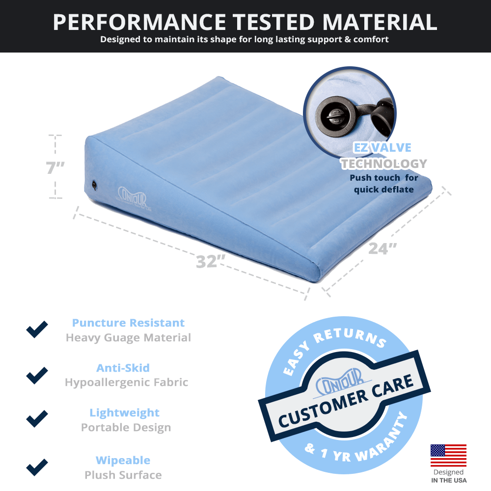 contour 2 in 1 inflatable back wedge cushion