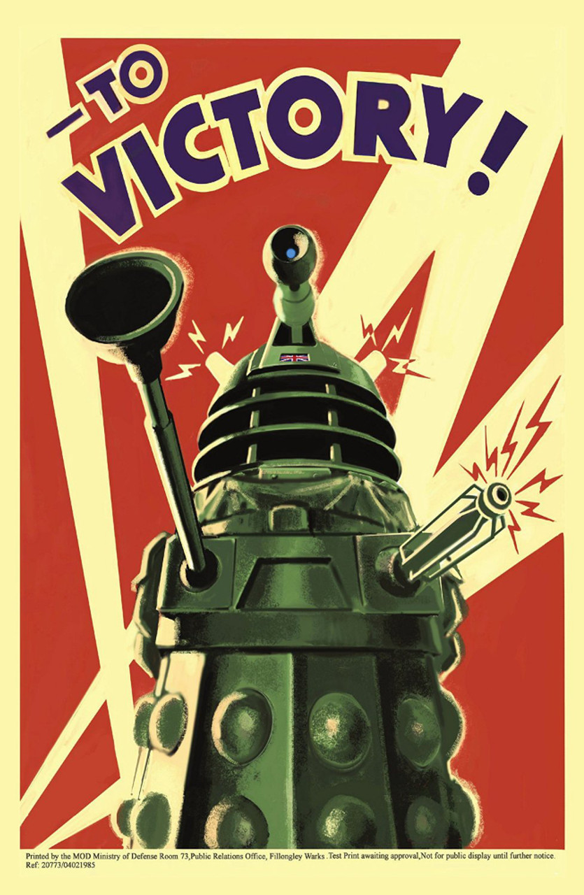 doctor who 17 x 11 inch print to victory daleks world war ll propaganda style promotional poster