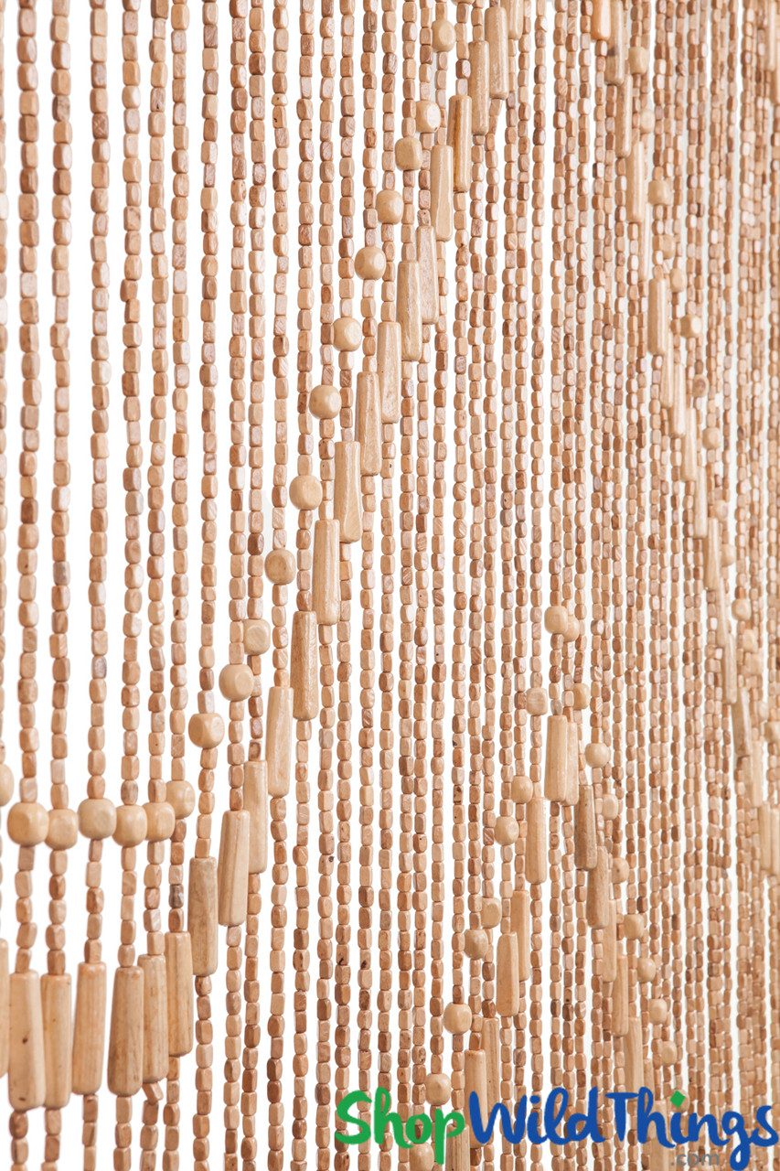 wooden bead curtain lark light 35 x 76 52 strands extra coverage