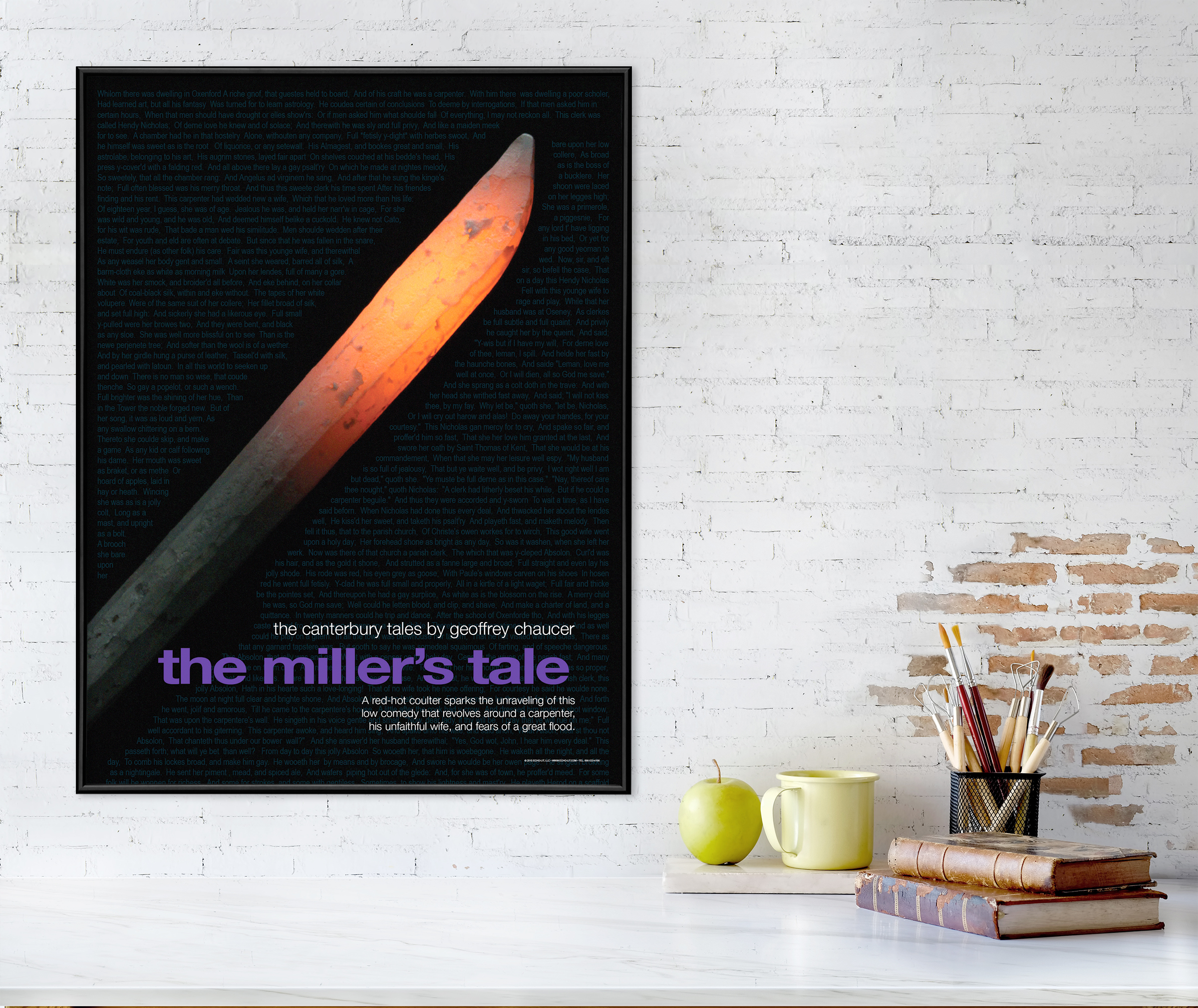 the canterbury tales movie style poster the miller s tale geoffrey chaucer literary print poster laminated or framed multiple sizes